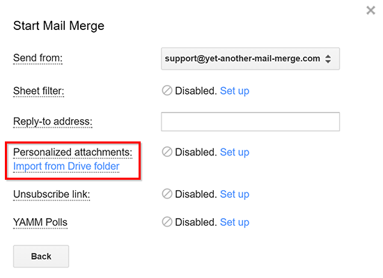 Send a mail merge with personalized attachments to each recipient