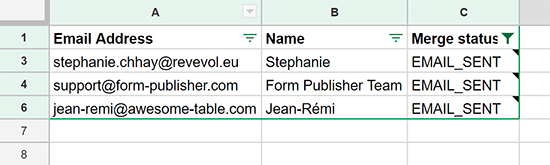 Some rows / recipients are missing in my spreadsheet – Documentation