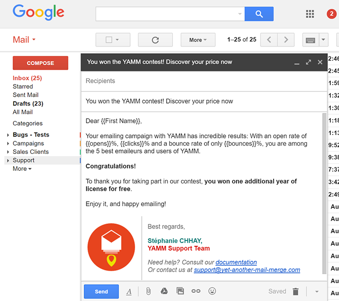 Create A Simple Draft Email Template In Gmail For Your Mail Merge