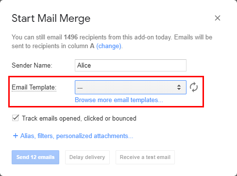 Create A Simple Draft Email Template In Gmail For Your Mail Merge Documentation Yet Another Mail Merge Support