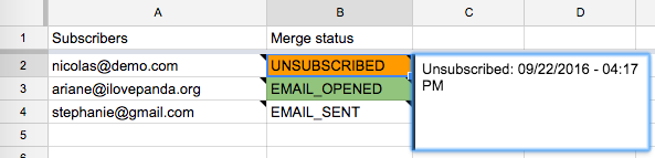 Unsubscribed tracker