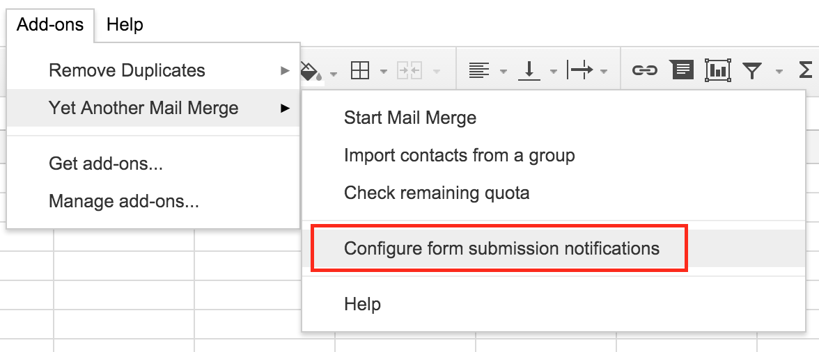 Configure form submission notifications