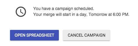 Cancel scheduled mail merge
