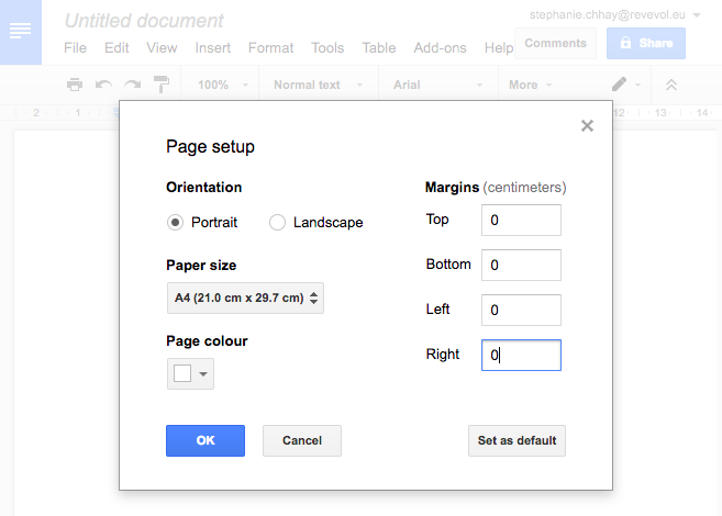 Create Your Template In Google Docs And Import It In Gmail - Google docs create template