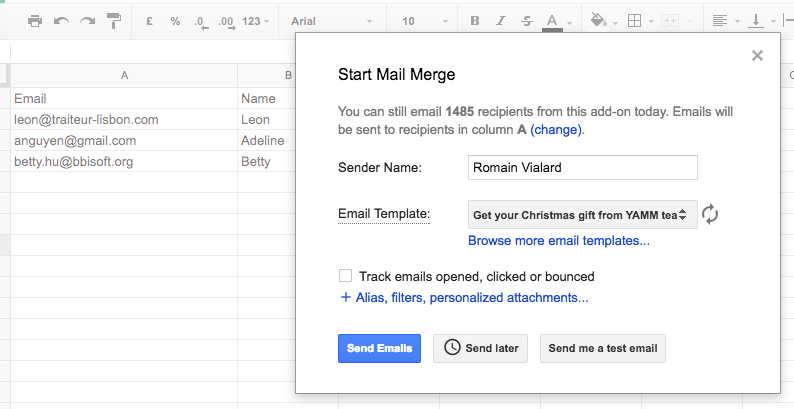Create your template in Google Docs and import it in Gmail ...